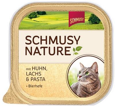 Консервы для кошек Шмуси курица с лососем, 100 г70031Шмуси натура - это полноценная еда для кошек и котов с множеством натуральных ингредиентов. Корм Шмуси богат содержанием отборного мяса, потому что кошки - это настоящие хищники и нуждаются в пище, богатой белками. В этих ванночках маленькие кусочки мяса смешаны с паштетом. Кроме отборного мяса в состав входят пивные дрожжи, которые укрепляют имунную систему кошек. Также добавлен таурин для правильного развития организма кошек. Состав: Курица, лосось, отборное мясо, печень, мясные субпродукты, паств, пивные дрожжи, минеральные вещества. Условия хранения: комнатная температура в закрытом виде, после вскрытия до 2 дней в холодильнике. Особенности: Натуральные компоненты; Без сои, красителей, ароматизаторов, костной муки; Без консервантов Состав: Курица;Лосось;Мясо