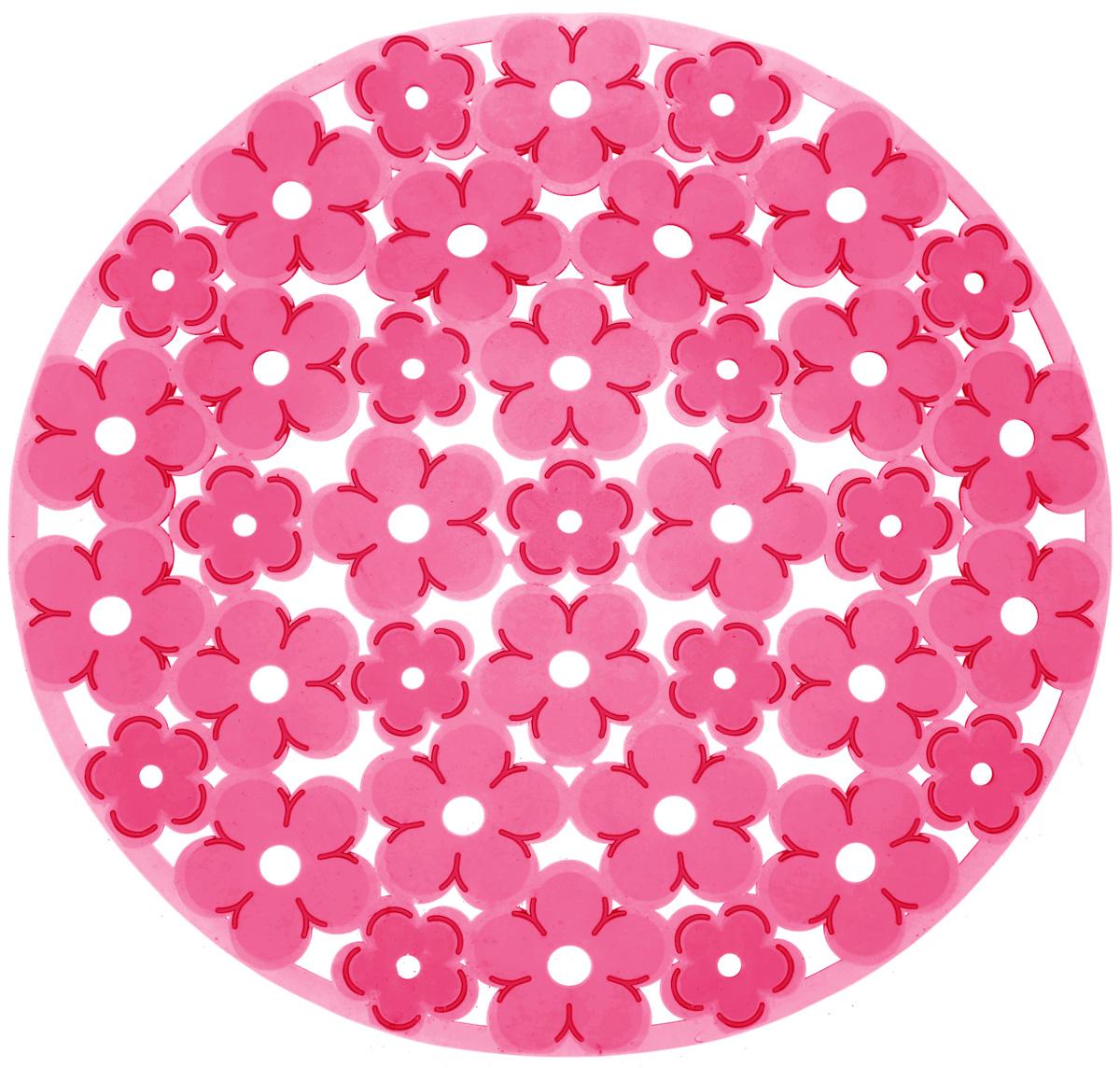 Коврик для раковины Metaltex, цвет: красный, диаметр 30 см28.75.37_красныйСтильный и удобный коврик для раковины Metaltex выполнен из ПВХ. Он одновременно выполняет несколько функций: украшает, предотвращает появление на раковине царапин и сколов, защищает посуду от повреждений при падении в раковину, удерживает мусор, попадание которого в слив приводит к засорам. Изделие также обладает противоскользящим эффектом и может использоваться в качестве подставки для сушки чистой посуды. Легко очищается от грязи и жира. Диаметр: 30 см.