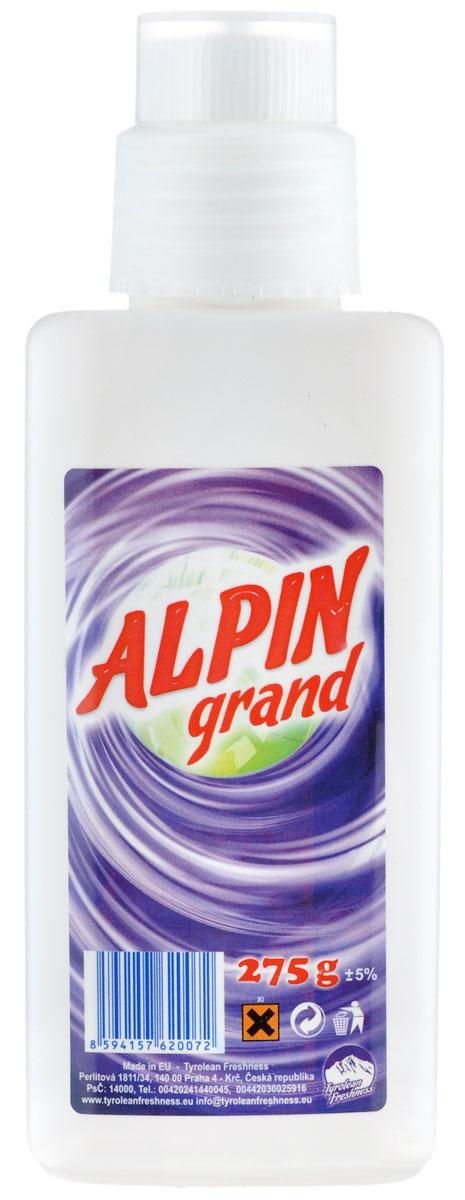 Пятновыводитель Alpin Grand, 275 гАB0270PGDЖидкий пятновыводитель Alpin Grand предназначен для удаления пятен от крови, красного вина, сока, жира, белковых компонентов и других веществ, практически со всех видов тканей. Не оставляет характерной белизны. После применения смывается полосканием в воде, либо стирается в машине. Не содержит хлора, безопасен для тканей. Состав: менее 5% энзимы, анионные и неанионные тэнзиды, моноприполенгликол, содийный цитрат не более 15%. Товар сертифицирован.