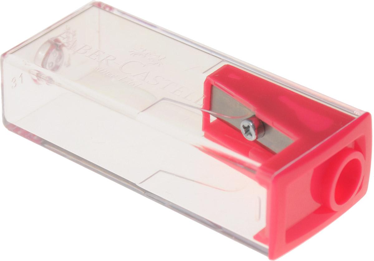 Faber-Castell Точилка с контейнером цвет розовыйFS-54103Точилка Faber-Castell предназначена для затачивания карандашей диаметром 8 мм. Прозрачный контейнер позволяет определить уровень заполнения и вовремя произвести очистку. Острые стальные лезвия обеспечивают высококачественную и точную заточку деревянных карандашей.