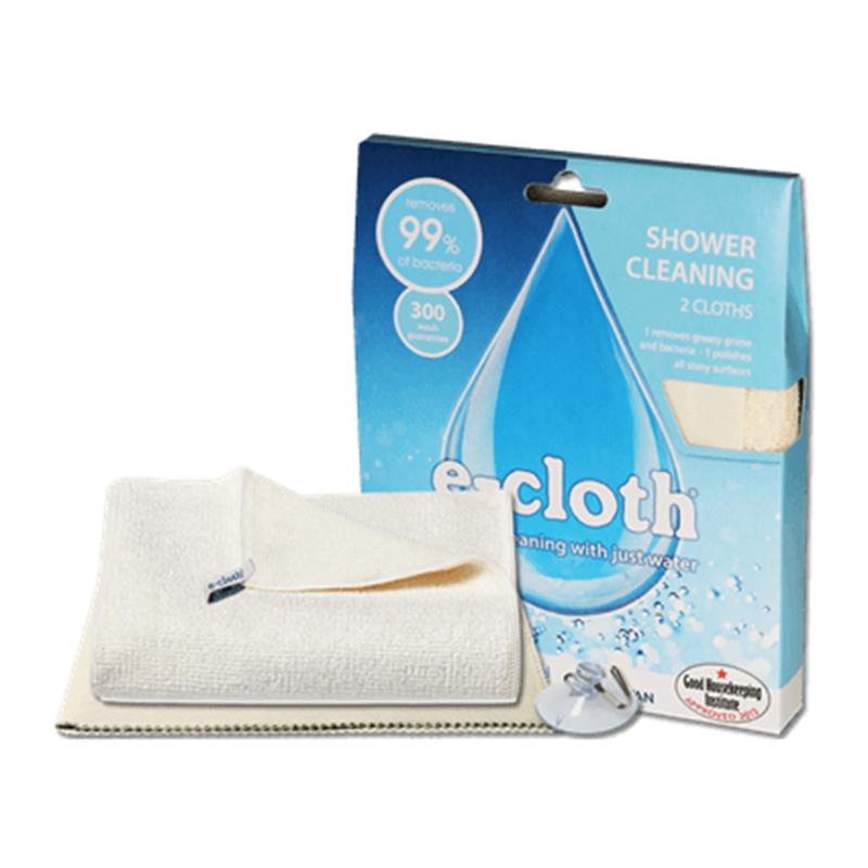 Набор для уборки в душе E-cloth, цвет: молочный, 3 предмета20083Набор для уборки в душе E-cloth состоит из салфетки для душа, салфетки для полировки и очистки стекла и металлического крючка на присоске. Салфетка для душа имеет очень высокую впитывающую способность за счет длинных и толстых волокон. Регулярное использование салфетки позволит избежать возникновения известкового налета на смесителях, кафельной плитке, защитных экранах и аксессуарах. Удаляет свыше 99% бактерий. Можно стирать в стиральной машине. Салфетка для полировки и очистки стекла используется для стеклянных, металлических и других твердых поверхностей без использования химикатов. Не оставляет разводов.Можно стирать в стиральной машине. Крючок на силиконовой присоске позволяет хранить салфетку для душа в удобном месте и использовать при необходимости.