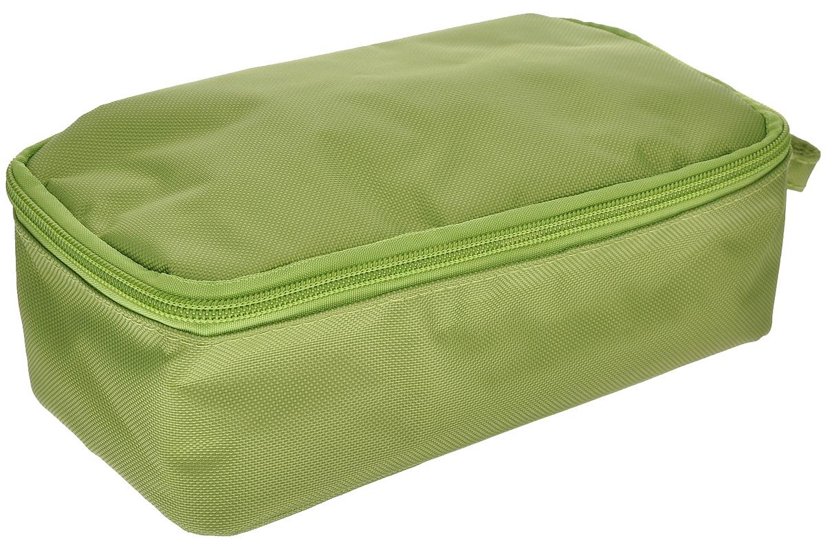 Термоланчбокс Iris Barcelona Nano Cooler, цвет: зеленый9699-TТермоланчбокс Iris Barcelona Nano Cooler представляет собой вместительную сумку, с внешней стороны отделанную высококачественным полиэстером. Имеет одно вместительное отделение и закрывается на застежку-молнию. Внутренняя поверхность отделана специальным изотермическим материалом, сохраняющим температуру пищи (холодную или горячую). Имеется сетчатый кармашек для столовых приборов, напитков и салфеток.