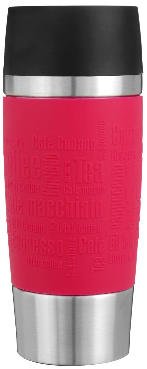 Термокружка Emsa Travel Mug, цвет: красный, стальной, 0,36 л513356Термокружка Emsa Travel Mug - это идеальный попутчик в дороге - не важно, по пути ли на работу, в школу или во время похода по магазинам. Вакуумная кружка на 100% герметична. Кружка имеет двустенную вакуумную колбу из нержавеющей стали, благодаря чему температура жидкости сохраняется долгое время. Кружку удобно держать благодаря покрытию Soft Touch из силикона. Изделие открывается нажатием кнопки. Пробка разбирается и превосходно моется. Дно кружки выполнено из силикона, что препятствует скольжению. Диаметр кружки по верхнему краю: 8 см. Диаметр дна кружки: 6,5 см. Высота кружки: 20,5 см. Сохранение холодной температуры: 8 ч. Сохранение горячей температуры: 4 ч.