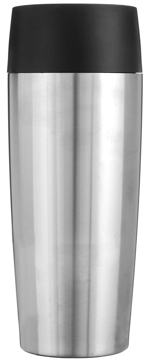 Термокружка Emsa Travel Mug, цвет: стальной, 0,36 л513351Термокружка Emsa Travel Mug - это идеальный попутчик в дороге - не важно, по пути ли на работу, в школу или во время похода по магазинам. Вакуумная кружка на 100% герметична. Кружка имеет двустенную вакуумную колбу из нержавеющей стали, благодаря чему температура жидкости сохраняется долгое время. Изделие открывается нажатием кнопки. Пробка разбирается и превосходно моется. Дно кружки выполнено из силикона, что препятствует скольжению. Диаметр кружки по верхнему краю: 7 см. Диаметр дна кружки: 6,5 см. Высота кружки: 20 см. Сохранение холодной температуры: 8 ч. Сохранение горячей температуры: 4 ч.