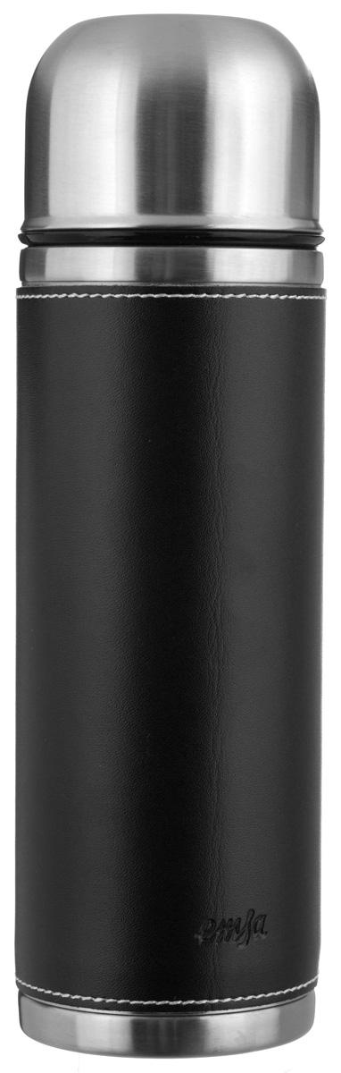 Термос Emsa Senator Class, цвет: черный, 0,7 л115510Простая и гармоничная форма термоса Emsa Senator Class, выполненного из стали, удовлетворит желания любого потребителя. Внешняя сторона изделия одета в кожаный чехол, что позволяет надежно держать его в руках. Термос оснащен герметичным клапаном и крышкой, которую можно использовать в качестве стакана, а благодаря системе высококачественной вакуумной изоляции он сохранит ваши напитки горячими или холодными надолго. Диаметр горлышка термоса: 5 см.Диаметр дна термоса: 8 см.Высота термоса (с учетом крышки): 26,5 см.Сохранение холодной температуры: 24 ч.Сохранение горячей температуры: 12 ч.