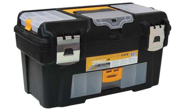 Ящик для инструментов 18 Гефест с консолью и коробками, металлические замки. М 2944М 2944