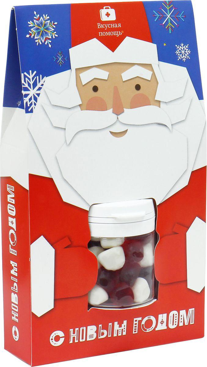 Жевательный мармелад Вкусная помощь Дед Мороз, 1 мини-доза0120710Жевательный мармелад Дед Мороз - это 1 мини-доза мармелада Фруктовые точки. Настоящий русский Дед Мороз каждый Новый год приходит во Вкусную помощь и приносит свои сладости, что бы вы могли поздравить с новогодними праздниками своих близких, родных, любимых и друзей. Мармелад Дед Мороз – удивительный подарок с ароматом праздника, он очень понравиться деткам и взрослым. Это отличная идея для подарка на новогодний утренник в детском саду и в школе. Дети хотят верить в Новый год!