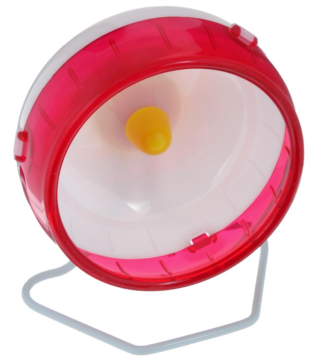 Колесо для грызунов I.P.T.S., цвет: белый, красный, диаметр 12 см0120710Колесо для грызунов I.P.T.S., выполненное из прочного пластик и металла, очень удобное и бесшумное, с высоким уровнем безопасности. Поместив его в клетку, вы обеспечите своему питомцу необходимую физическую активность. Сплошная внутренняя поверхность без щелей убережет хомячка от возможных травм. Можно установить на подставку или прикрепить к решетке. Предназначено для карликовых хомяков и мышей. Диаметр колеса: 12 см.