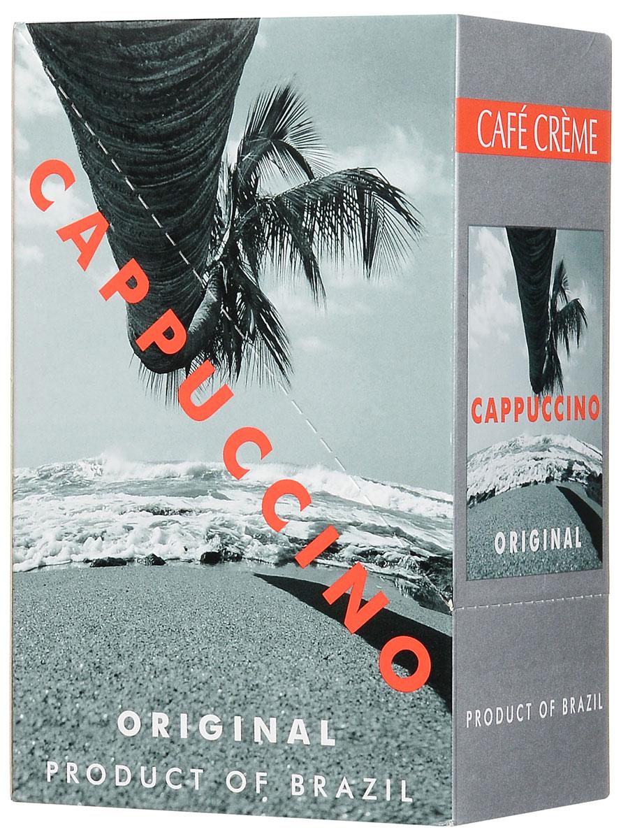Cafe Creme Original кофейный напиток в пакетиках, 10 шт4607141333132Cafe Creme Original изготовлен с использованием 100% натурального кофе высшего качества, выращенного в горах Эспирито-Санто на юго-востоке Бразилии. Гармоничное сочетание кофе, сахара и сливок, нежная сливочная пенка, бодрящий вкус и аромат ванили прекрасно взбодрят вас в любое время дня. Приготовлен по оригинальному бразильскому рецепту. Состав: сахар-песок, заменитель сухих сливок, натуральный кофе, ароматизатор.