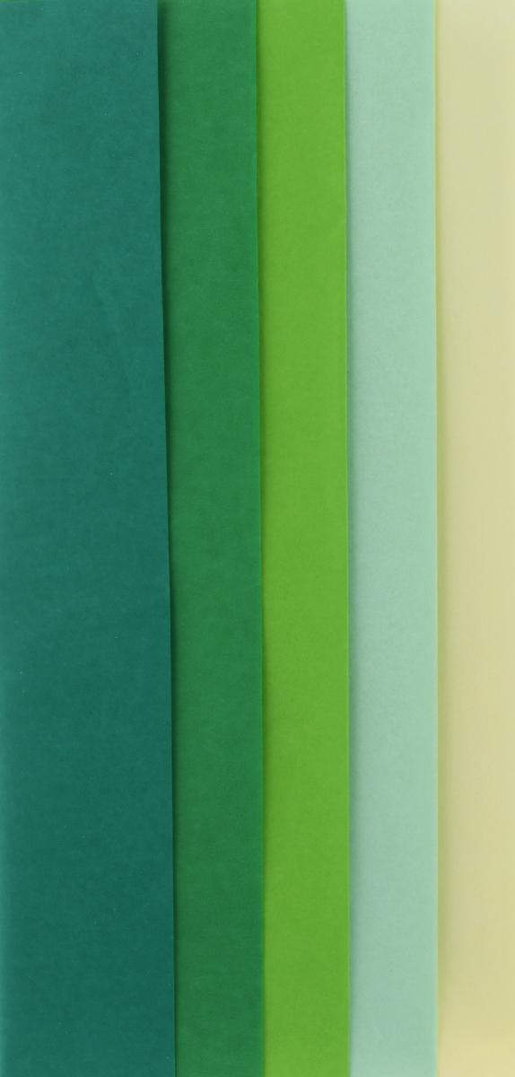 """Набор бумаги для творчества """"Heyda"""", цвет: зеленый, 50 см х 70 см, 10 листов 2033757-39"""