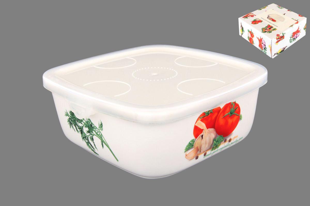 Блюдо для холодца Elan Gallery Помидоры, с крышкой, 700 мл101147Блюдо для холодца Elan Gallery Помидоры, изготовленное из высококачественной керамики, предназначено для приготовления и хранения заливного или холодца. Пластиковая крышка, входящая в комплект, сохранит свежесть вашего блюда. Также блюдо можно использовать для приготовления и хранения салатов. Оформлено изделие оригинальным рисунком. Такое блюдо украсит сервировку вашего стола и подчеркнет прекрасный вкус хозяйки. Не использовать в микроволновой печи. Размер блюда (Д х Ш х В): 16 см х 16 см х 6,5 см.