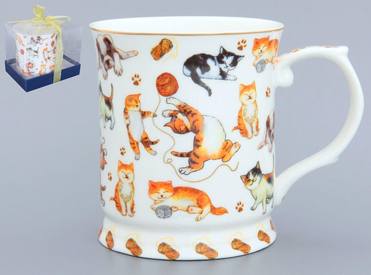 Кружка Elan Gallery Веселые кошечки, 400 мл420043Оригинальная кружка Elan Gallery Веселые кошечки выполнена из высококачественной керамики. Подойдет для чая, кофе и других напитков. Удобна в использовании благодаря устойчивой форме. Изделие имеет подарочную упаковку. Не рекомендуется применять абразивные моющие средства. Не рекомендуется использовать в микроволновой печи. Диаметр (по верхнему краю): 9 см. Высота: 10 см. Объем: 400 мл.