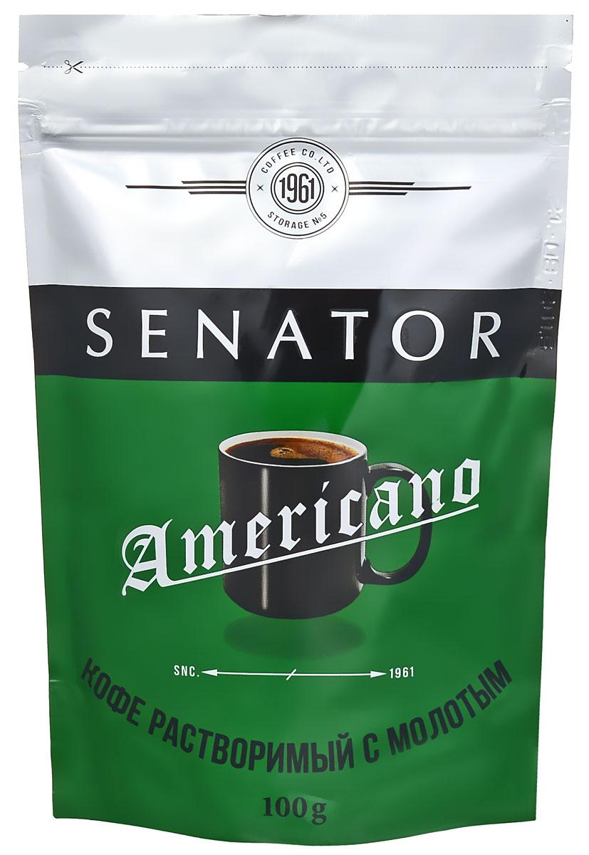 Senator Americano кофе растворимый, 100 г4670016470812Добавление колумбийской арабики делает вкус кофе Senator Americano ровным, насыщенным, и по-настоящему американским. Идеален для приготовления кофе на каждый день.