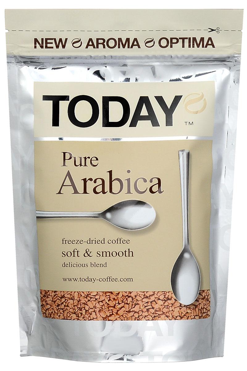 Today Pure Arabica кофе растворимый, 75 г101246Отборные зерна Колумбийской Арабики подарили кофе Today Pure Arabica мягкий вкус, легкую смородиновую кислинку и тонкую нотку фруктового оттенка. Технология Aroma Optima придает напитку мягкий вкус и богатый аромат.