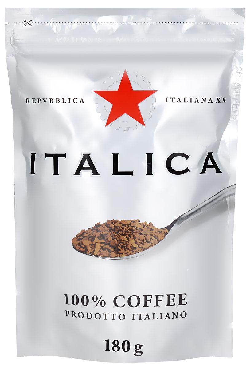 Italica кофе растворимый, 180 г101246Кофе Italica создан мастерами старой школы с уважением к итальянским кофейным традициям. Богатую палитру его вкуса составляют лучшие кофейные зерна Бразилии, Кении, Центральной Америки, Мексики и Ямайки. Попробуйте традиционный кофе - шедевр итальянского кофейного искусства!