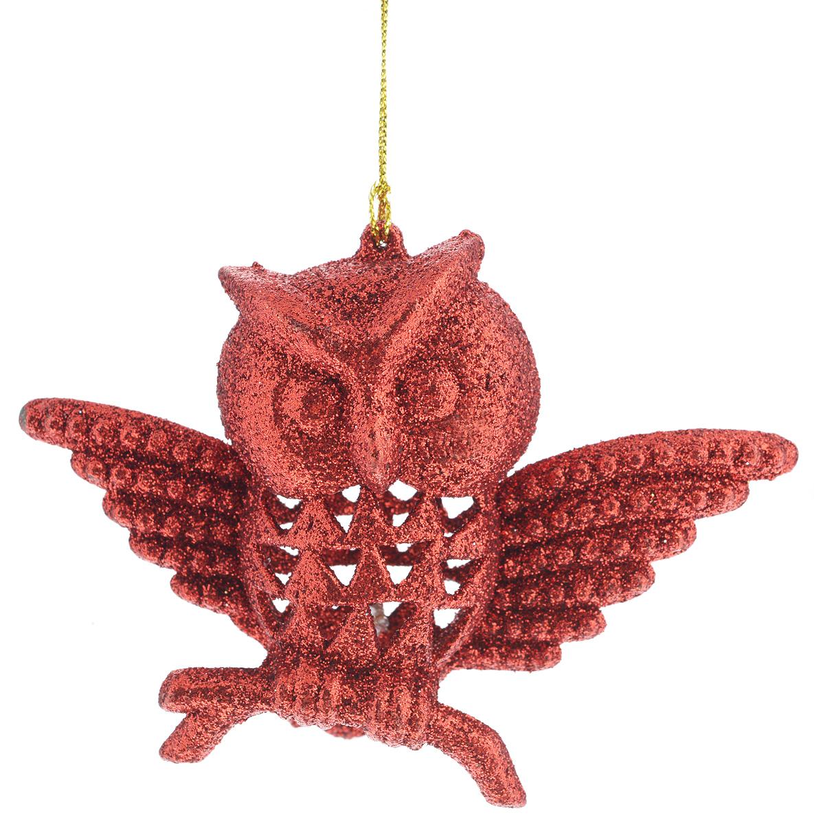 Новогоднее подвесное украшение Феникс-Презент Сова, цвет: красный34977Новогоднее украшение Феникс-Презент Сова, изготовленное из высококачественного пластика, прекрасно подойдет для праздничного декора дома и новогодней ели. С помощью специальной текстильной петельки его можно повесить в любом понравившемся вам месте. Елочная игрушка - символ Нового года. Она несет в себе волшебство и красоту праздника. Создайте в своем доме атмосферу веселья и радости, украшая новогоднюю елку нарядными игрушками, которые будут из года в год накапливать теплоту воспоминаний.