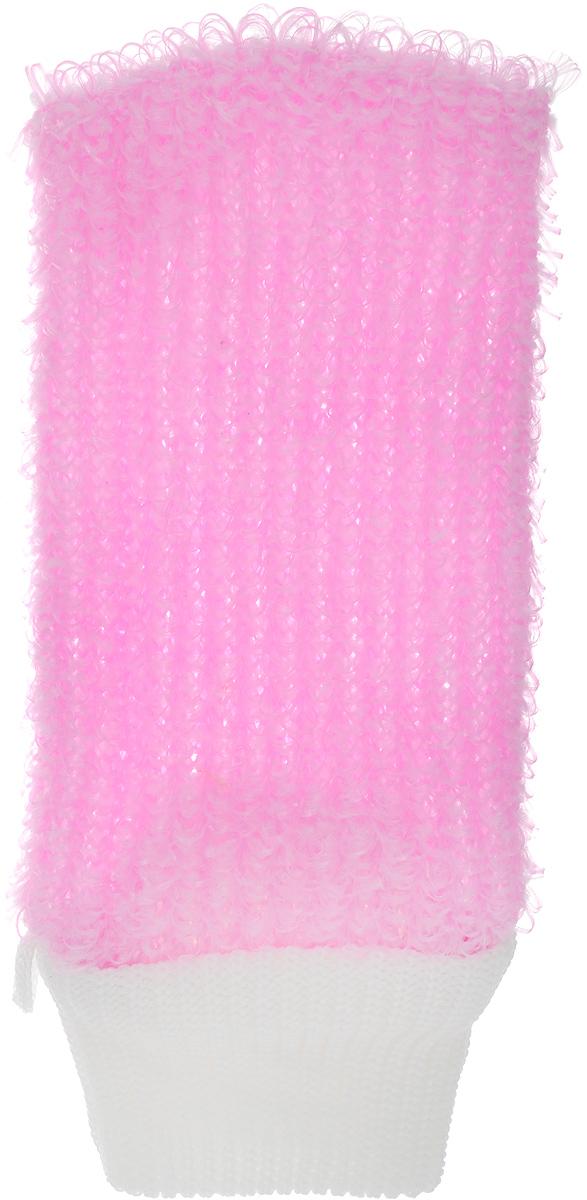 Мочалка Eva Рукавица, цвет: розовый, белый, 11 х 22 смМ38_розовыйМочалка Eva Рукавица станет незаменимым аксессуаром ванной комнаты.Она отлично очищает кожу, создает обильную пену, быстро сохнет, не требует ухода, существенно экономит моющие средства, а также имеет длительный срок службы. Обладает эффектом скраба - кожа становится чистой, упругой и свежей. Идеально подходит для профилактики и борьбы с целлюлитом.