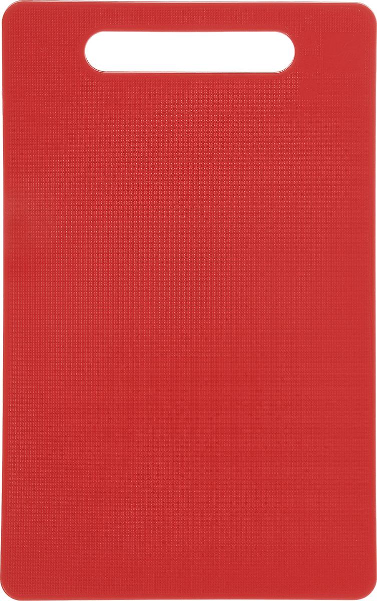 Доска разделочная Kesper, цвет: красный, 24 см х 15 см3046-3Яркая разделочная доска Kesper прекрасно подходит для нарезки всех видов продуктов. Изготовлена из одноцветного прочного пластика. Доска с ручкой. Можно мыть в посудомоечной машине.