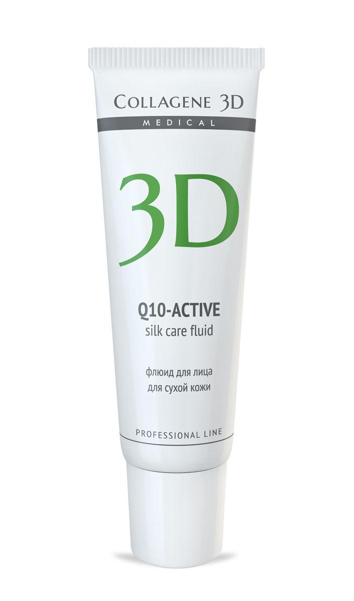 Medical Collagene 3D Флюид для лица Q10, 30 млFS-00103Флюид с легкой тающей текстурой создает на коже шелковую вуаль. Активный антиоксидант коэнзим Q10, ценные масла авокадо и жожоба, входящие в состав, увлажняют кожу, насыщают ее питательными веществами.