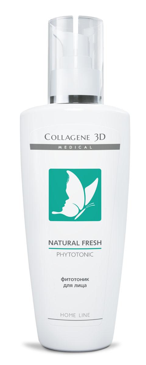 Medical Collagene 3D Фитотоник для лица Natural fresh, 250 мл16003Содержащиеся мягкие очищающие вещества, полученные бережно и эффективно удаляют загрязнения, восстанавливают гидролипидную мантию кожи. Обеспечивает здоровый цвет лица и ухоженный внешний вид.