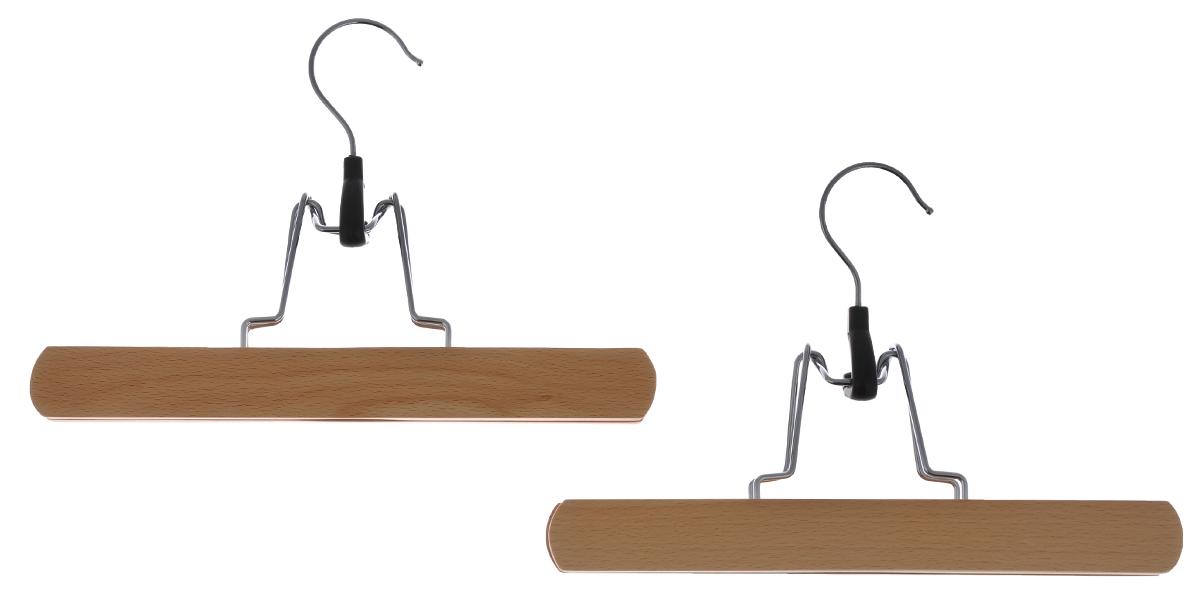 Вешалка-зажим для брюк Cosatto, цвет: бук, 2 штCOVLPALN45Деревянная вешалка для одежды Cosatto изготовлена из натуральной крашеной, специально обработанной древесины (массив бука), защищенной бесцветным лаком от проникновения влаги, деформации или разбухания. Вешалка предназначена специально для брюк. Все металлические части вешалки изготовлены из нержавеющей стали с напылением, препятствующим окислению и ржавчине. Вешалка - это незаменимая вещь для того, чтобы ваша одежда всегда оставалась в хорошем состоянии. Размеры вешалки: 25 см х 2 см х 17 см.