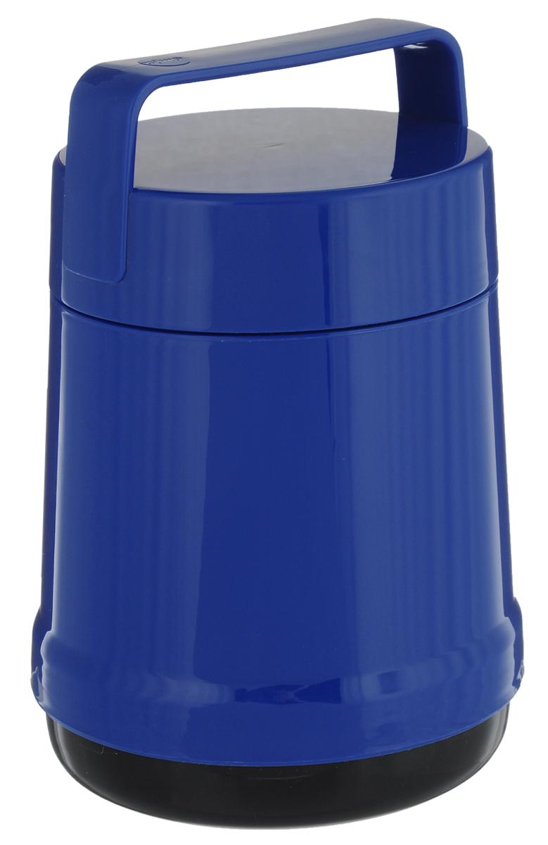 Термос для еды Emsa Rocket, цвет: синий, 1 л514533Термос с широким горлом Emsa Rocket выполнен из прочного цветного пластика со стеклянной колбой. Термос прост в использовании и очень функционален. В комплекте 2 контейнера, которые можно использовать в качестве мисок для еды. Легкий и прочный термос Emsa Rocket сохранит вашу еду горячей или холодной надолго. Высота (с учетом крышки): 22 см. Диаметр горлышка: 12,5 см. Диаметр дна: 14 см. Размер большого контейнера: 11,8 см х 11,8 см х 12,5 см. Размер маленького контейнера: 11 см х 10 см х 4,7 см. Сохранение холода: 12 ч. Сохранение тепла: 6 ч.