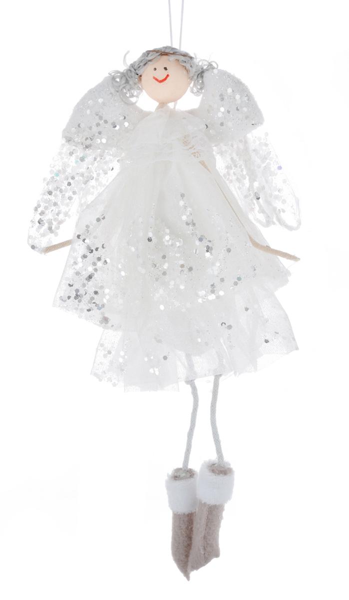 Новогоднее подвесное украшение Sima-land Воздушная девочка, цвет: белый, высота 26 см09840-20.000.00Новогоднее украшение Sima-land Воздушная девочка отлично подойдет для декорации дома и новогодней ели. Украшение выполнено в виде декоративной куклы. Девочка-ангелочек одета в длинное белое пышное платье, украшенное блестками. Изделие оснащено специальной петелькой для подвешивания. Елочная игрушка - символ Нового года. Она несет в себе волшебство и красоту праздника. Создайте в своем доме атмосферу веселья и радости, украшая всей семьей новогоднюю елку нарядными игрушками, которые будут из года в год накапливать теплоту воспоминаний.