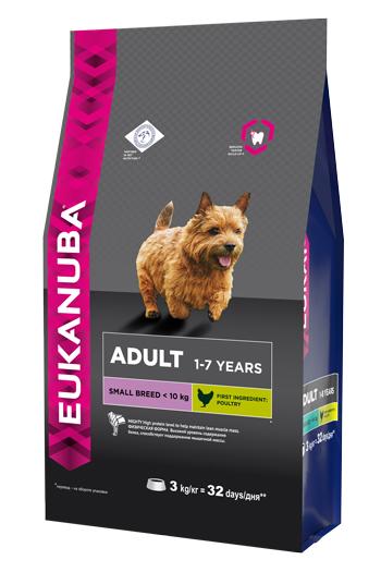 Корм Eukanuba Dog для взрослых собак мелких пород 3 кг elikor эпсилон 60 медный антик золото