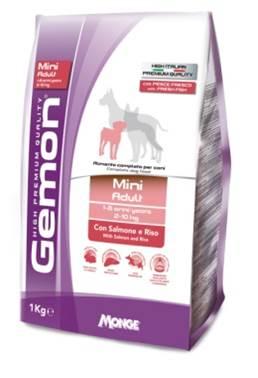 Корм Gemon Dog Mini, для взрослых собак мелких пород, лосось с рисом, 3 кг0120710Полнорационный корм для собак на основе лосося и риса. Специально разработан для ежедневного кормления взрослых собак мелких пород (2-10 кг) с нормальной физической активностью в возрасте 1-8 лет.