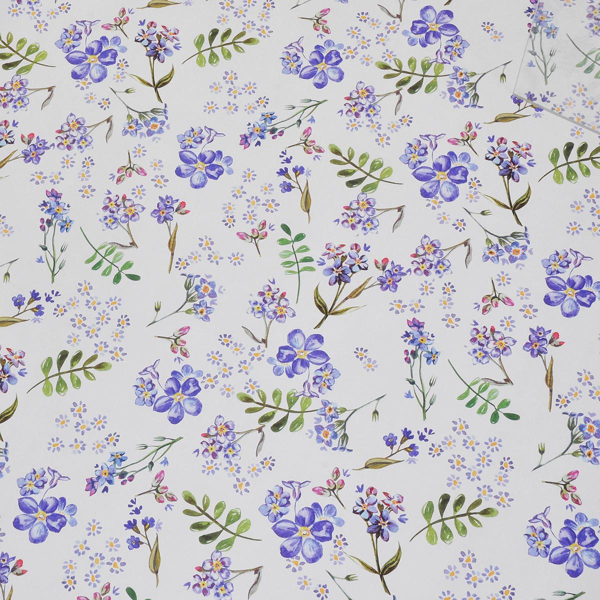 Бумага упаковочная Голубые цветы, 100 см х 70 см39504Даже небольшой подарок, будучи красиво упакованным, может зажечь фантазию получателя и подарить немало ярких впечатлений еще до того, как он развернет ее. С помощью упаковочной бумаги Голубые цветы вы сможете создать восхитительную эксклюзивную упаковку для подарков родным и близким. Мелованная с одной стороны бумага оформлена изображением цветов. Длина бумаги: 100 см. Ширина бумаги: 70 см. Плотность: 80 г/м2.