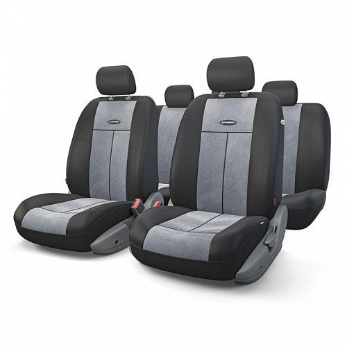 Авточехлы Autoprofi TT, цвет: черный, серый, 9 предметов. TT-902V BK/D.GYSC-FD421005Автомобильные чехлы Autoprofi TT изготавливаются из высококачественного полиэстера со вставками из поролона, обеспечивающего сцепление с сиденьем. Мягкие чехлы являются отличным дополнением салона любого автомобиля. Изделия придают автомобильному интерьеру современные и солидные черты.Универсальная конструкция подходит для большинства автомобильных сидений. Подходят для автомобилей с боковыми подушками безопасности (распускаемый шов).Специальные молнии, расположенные в чехлах спинки заднего ряда, позволяют использовать чехлы на автомобилях с различными пропорциями складывания заднего ряда.Комплектация: 5 подголовников, 2 чехла сидений переднего ряда, 1 спинка заднего ряда, 1 сиденье заднего ряда.