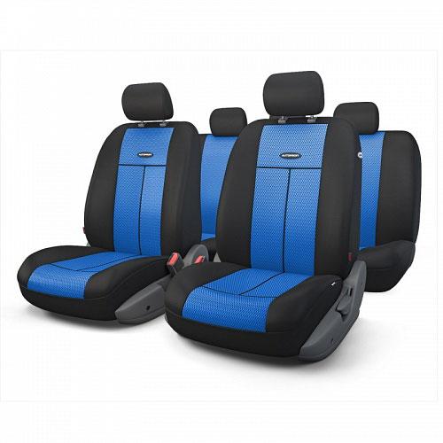 Авточехлы Autoprofi TT, цвет: черный, синий, 9 предметов. TT-902M BK/BL autoprofi tt 902v black red tt 902v bk rd