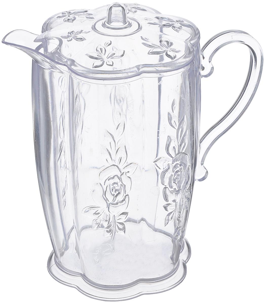 Кувшин Альтернатива Молочник, с крышкой, 500 млМ832Кувшин Альтернатива Молочник выполнен из высококачественного пластика, оснащен крышкой и эргономичной ручкой для удобства. Внешние стенки изделия декорированы объемными цветами. В таком кувшине будет удобно хранить и подавать на стол молоко, соки или воду. Кувшин Альтернатива Молочник украсит любой кухонный интерьер и станет хорошим подарком для ваших близких. Размер (по верхнему краю): 10,2 см х 7,5 см. Высота (с учетом крышки): 14 см.