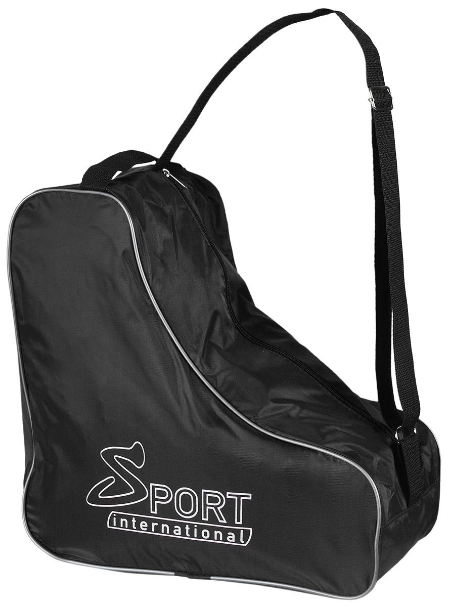 Сумка для коньков Sport international, цвет: черный28262979Универсальная сумка Sport international для хранения и транспортировки хоккейных, фигурных, роликовых коньков. Сумка надежна и устойчива к внешним воздействиям: влаге, холоду, ветру. Имеет регулируемую ручку через плечо.