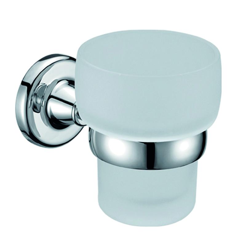 Стакан подвесной Gro Welle Wassermelone391602Стакан для ванной комнаты Gro Welle Wassermelone изготовлен из высококачественного матового стекла. Для стакана предусмотрен специальный держатель, выполненный из латуни с хромированным покрытием. Хромоникелевое покрытие Crystallight придает изделию яркий металлический блеск и эстетичный внешний вид. Имеет водоотталкивающие свойства, благодаря которым защищает изделие. Устойчив к кислотным и щелочным чистящим средствам. Изделие быстро и просто крепится к стене, крепежные материалы входят в комплект. В стакане удобно хранить зубные щетки, пасту и другие принадлежности. Диаметр стакана по верхнему краю: 8,4 см.Высота стакана: 10 см.Отступ стакана от стены: 12,8 см.