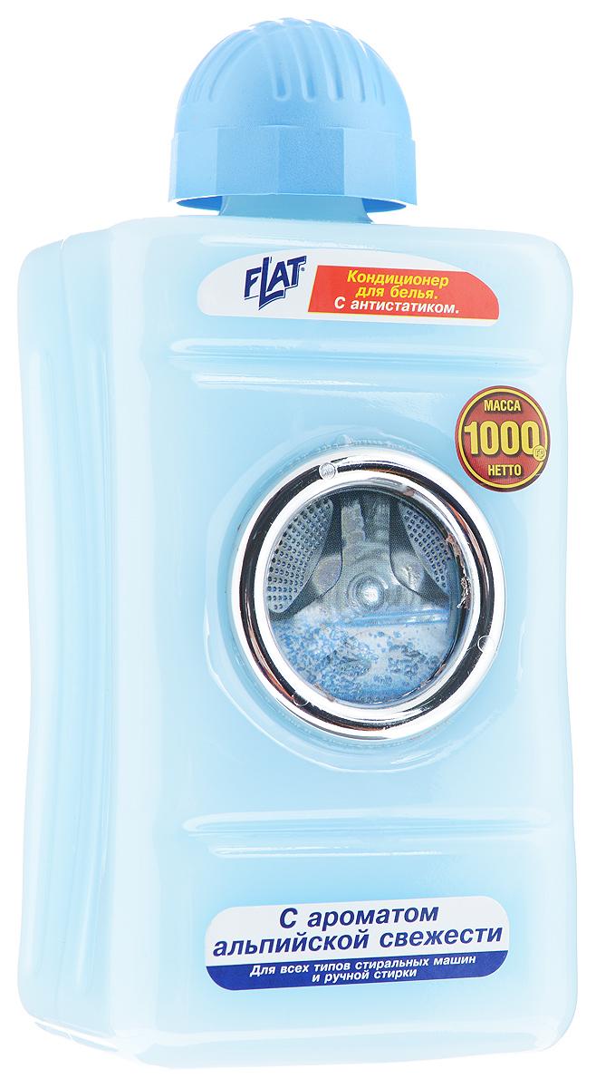 """Кондиционер для белья """"Flat"""" с антистатиком, с ароматом альпийской свежести, 1000 г 4600296002625"""
