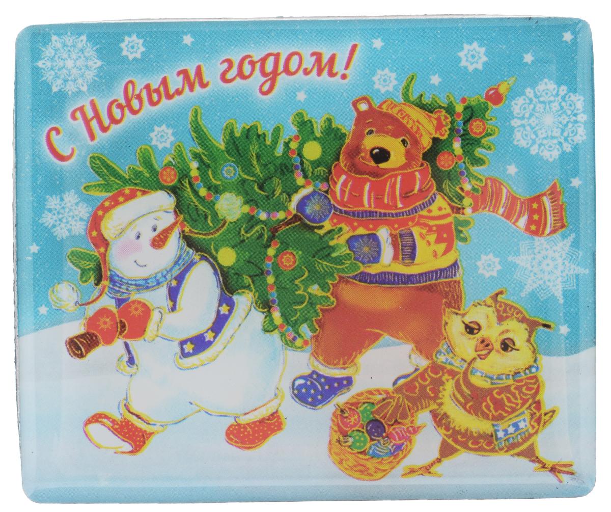 """Магнит Феникс-презент """"Снеговик и звери"""", 6 см х 5 см 38389"""