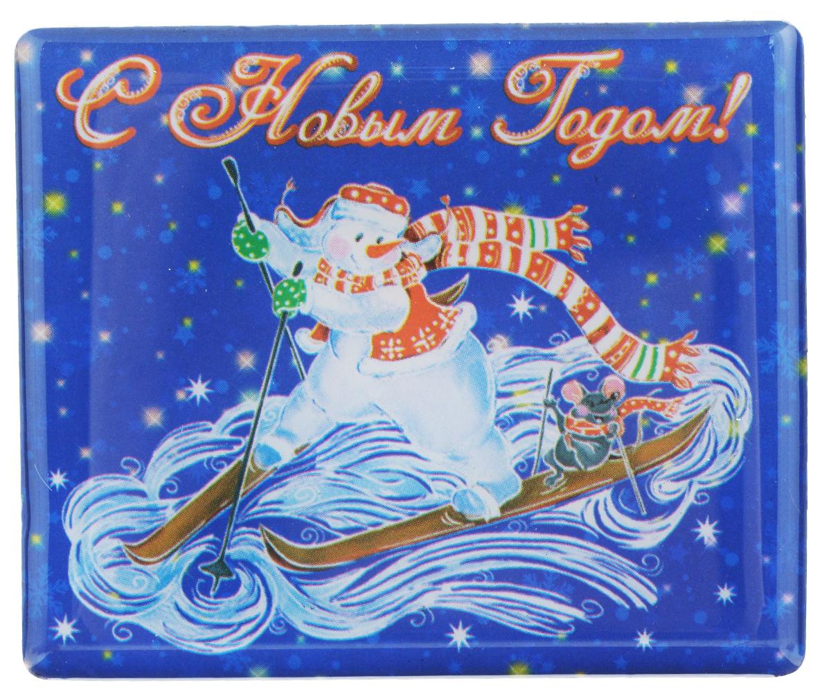 "Магнит Феникс-презент ""Снеговик на лыжах"", 6 x 5 см 38388"