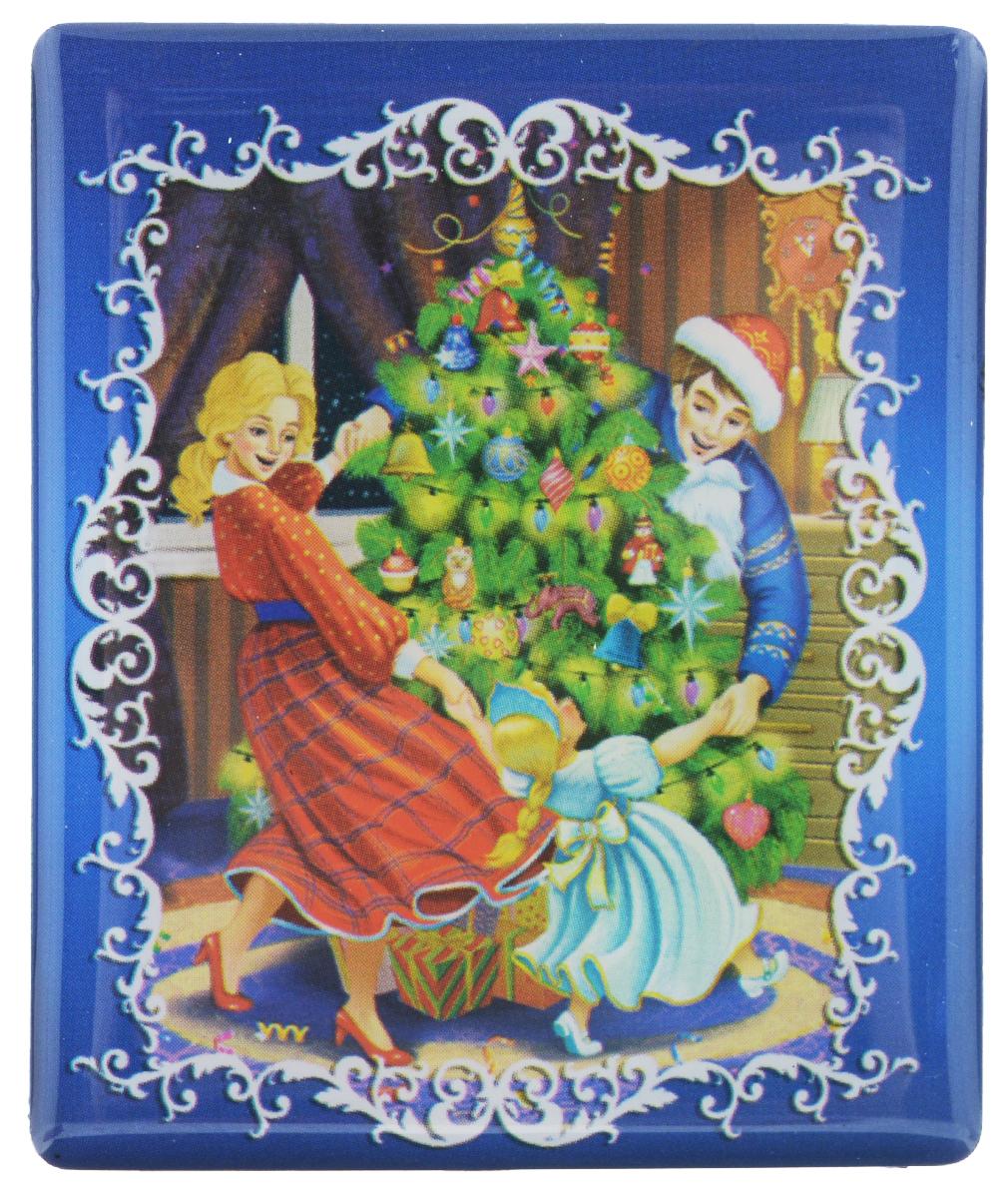 Магнит Феникс-презент Счастливая семья, 6 х 5 см38373Магнит прямоугольной формы Феникс-презент Счастливая семья, выполненный из агломерированного феррита, станет приятным штрихом в повседневной жизни. Оригинальный магнит, декорированный изображением семьи, кружащейся вокруг елки, поможет вам украсить не только холодильник, но и любую другую магнитную поверхность. Материал: агломерированный феррит.