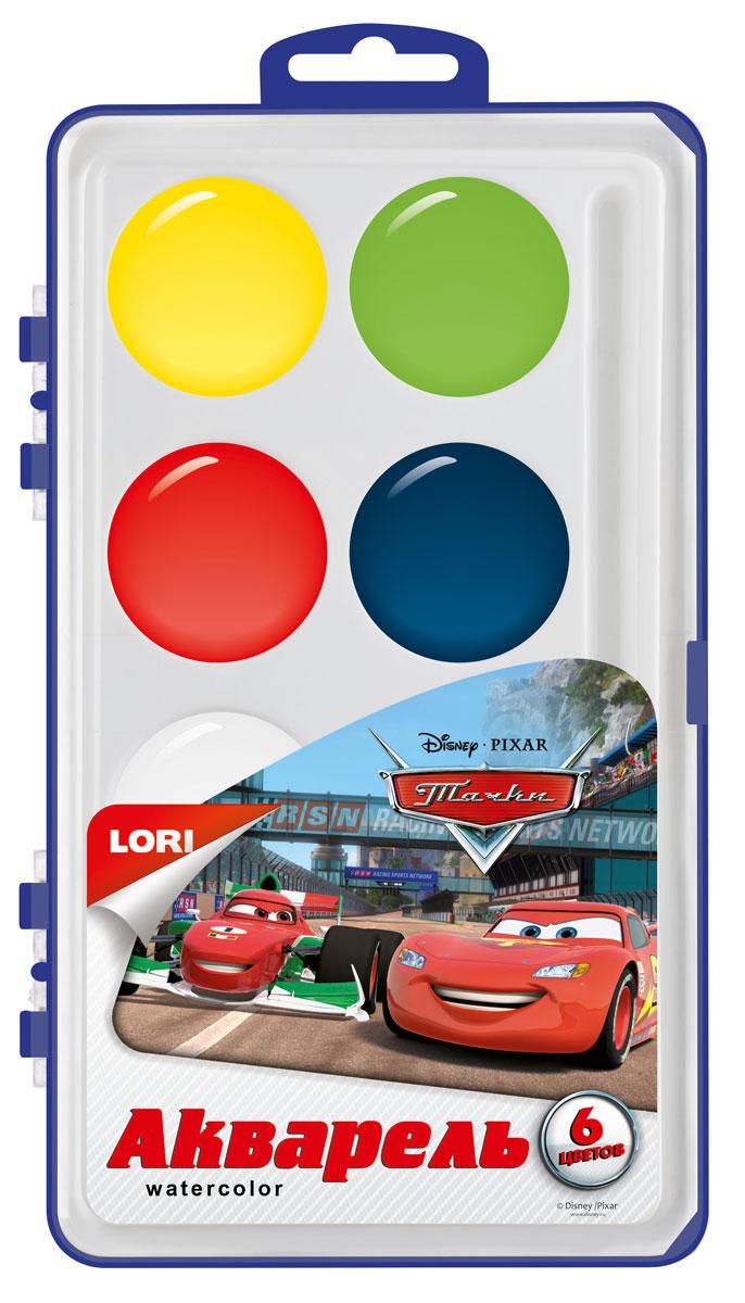 Lori Акварель Disney в пластике Тачки, 6 цвMDL4291От 3 лет