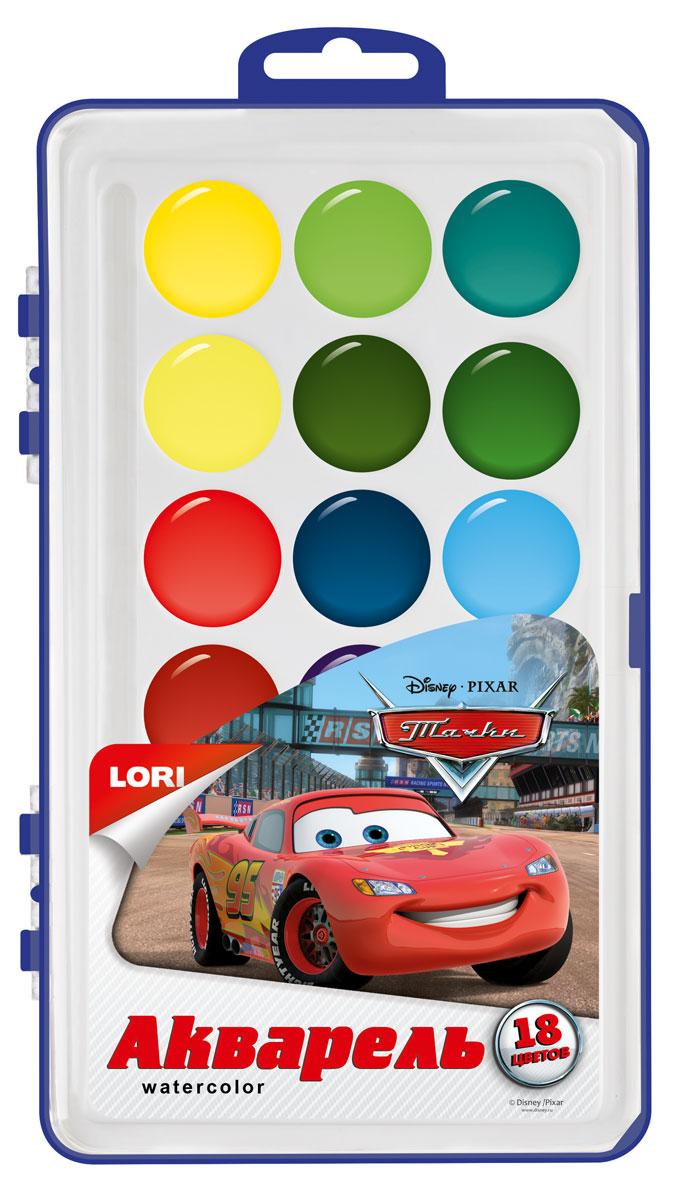 Lori Акварель Disney в пластике Тачки, 18 цвАкд-006От 3 лет