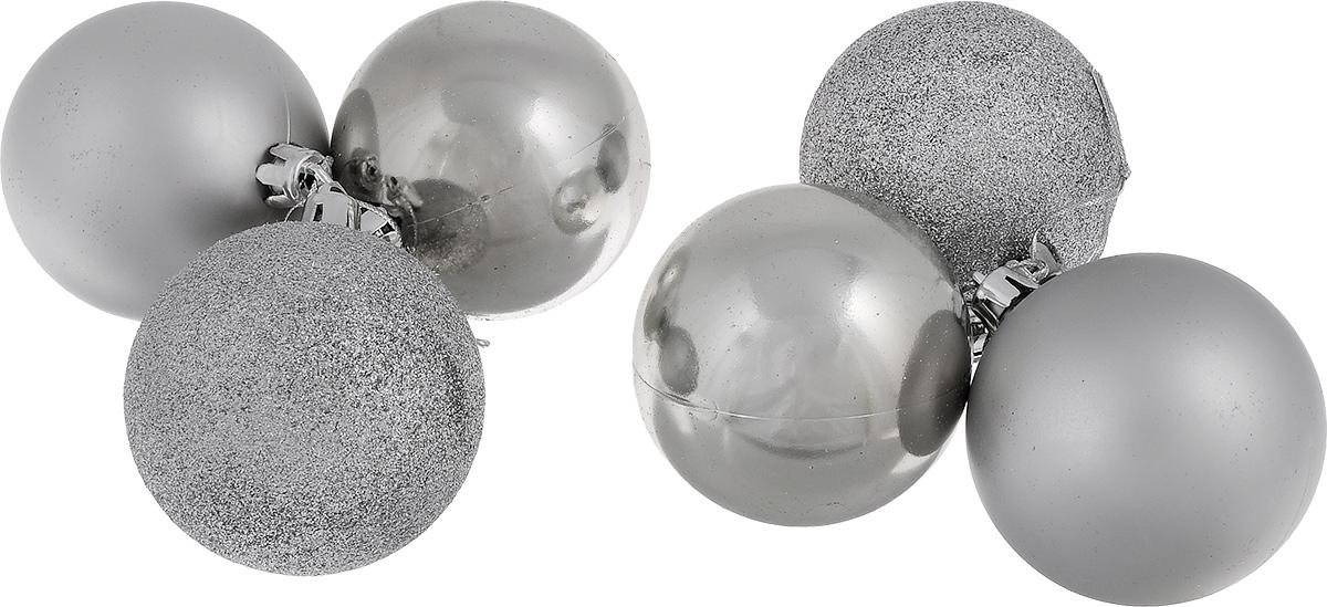 Набор новогодних подвесных украшений EuroHouse Everyday Holiday, цвет: серебристый, диаметр 7 см, 6 штЕХ 7361Набор новогодних подвесных украшений EuroHouse Everyday Holiday прекрасно подойдет для праздничного декора новогодней ели. Набор состоит из 6 пластиковых украшений в виде глянцевых и матовых шаров, а также двух шаров, оформленных блестками. Для удобного размещения на елке для каждого украшения предусмотрена текстильная петелька. Елочная игрушка - символ Нового года. Она несет в себе волшебство и красоту праздника. Создайте в своем доме атмосферу веселья и радости, украшая новогоднюю елку нарядными игрушками, которые будут из года в год накапливать теплоту воспоминаний. Откройте для себя удивительный мир сказок и грез. Почувствуйте волшебные минуты ожидания праздника, создайте новогоднее настроение вашим дорогим и близким.