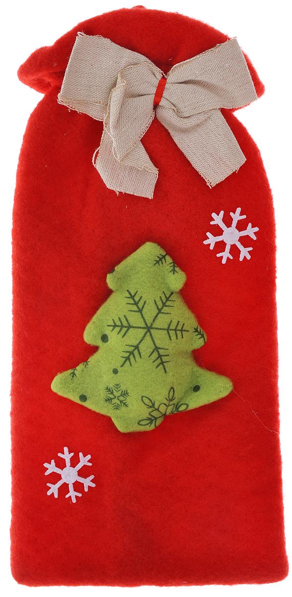 Новогодний мешочек для подарка Феникс-презент Елочка с бантиком, цвет: красный, зеленый, белый, 15,5 см х 29,5 см38651Новогодний мешочек для подарка Феникс-презент Елочка с бантиком, выполненный из синтетического фетра, оформлен изображением елочки и бантиком. По верхнему краю расположена резинка. Подарок, преподнесенный в оригинальной упаковке, всегда будет самым эффектным и запоминающимся. Окружите близких людей вниманием и заботой, вручив презент в нарядном, праздничном оформлении.