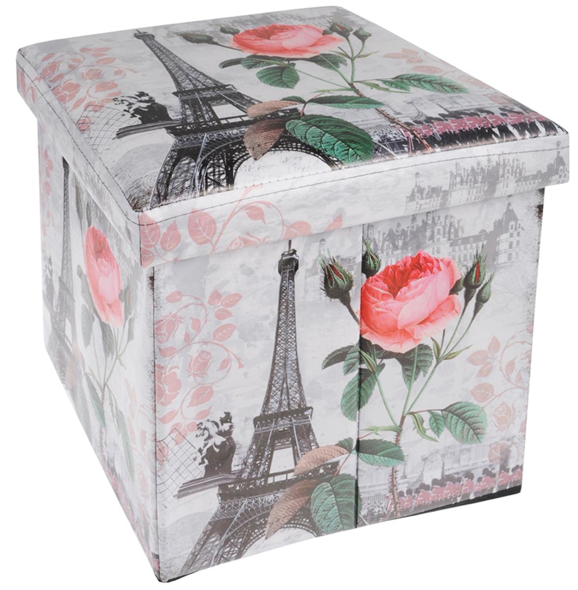 Кофр для хранения El Casa Париж - Метро, 41 х 36 х 26 см171142Кофр для хранения El Casa Париж - Метро - компактное и красивое решение для хранения вещей дома или на даче. Кофр имеет жесткий каркас из МДФ, выполнен из экокожи с изображением Эйфелевой башни. Снабжен крышкой, которая закрывается на липучку. Две ручки по бокам - для комфортной переноски. В таком кофре можно хранить всевозможные предметы: книги, игрушки, рукоделие. Яркий запоминающий дизайн кофра привнесет в ваш интерьер неповторимый шарм.