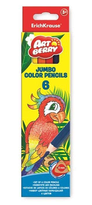 Карандаши Artberry 6цв треугольные Jumbo32473Карандаши Artberry 6цв треугольные Jumbo созданы из дерева для рисования. Качественные и яркие.