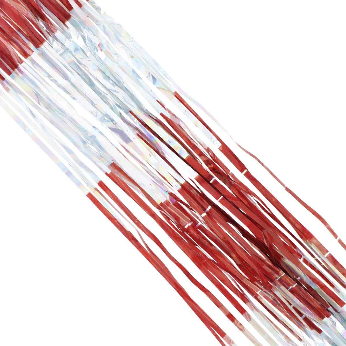 Дождик новогодний Sima-land, цвет: красный, серебристый, 14 см х 150 см. 702538NLED-444-7W-BKНовогодний дождик Sima-land, изготовленный из двухцветной фольги, поможет вам украсить свой дом к предстоящим праздникам. Новогодняя елка с таким украшением станет еще наряднее. Новогодним дождиком можно украсить все, что угодно - елку, квартиру, дачу, офис - как внутри, так и снаружи. Можно сложить новогодние поздравления, буквы и цифры, дождиком можно украсить и дополнить гирлянды, можно выделить дверные колонны, оплести дверные проемы. Коллекция декоративных украшений из серии Зимнее волшебство принесет в ваш дом ни с чем не сравнимое ощущение праздника! Создайте в своем доме атмосферу тепла, веселья и радости, украшая его всей семьей. Ширина: 14 см.