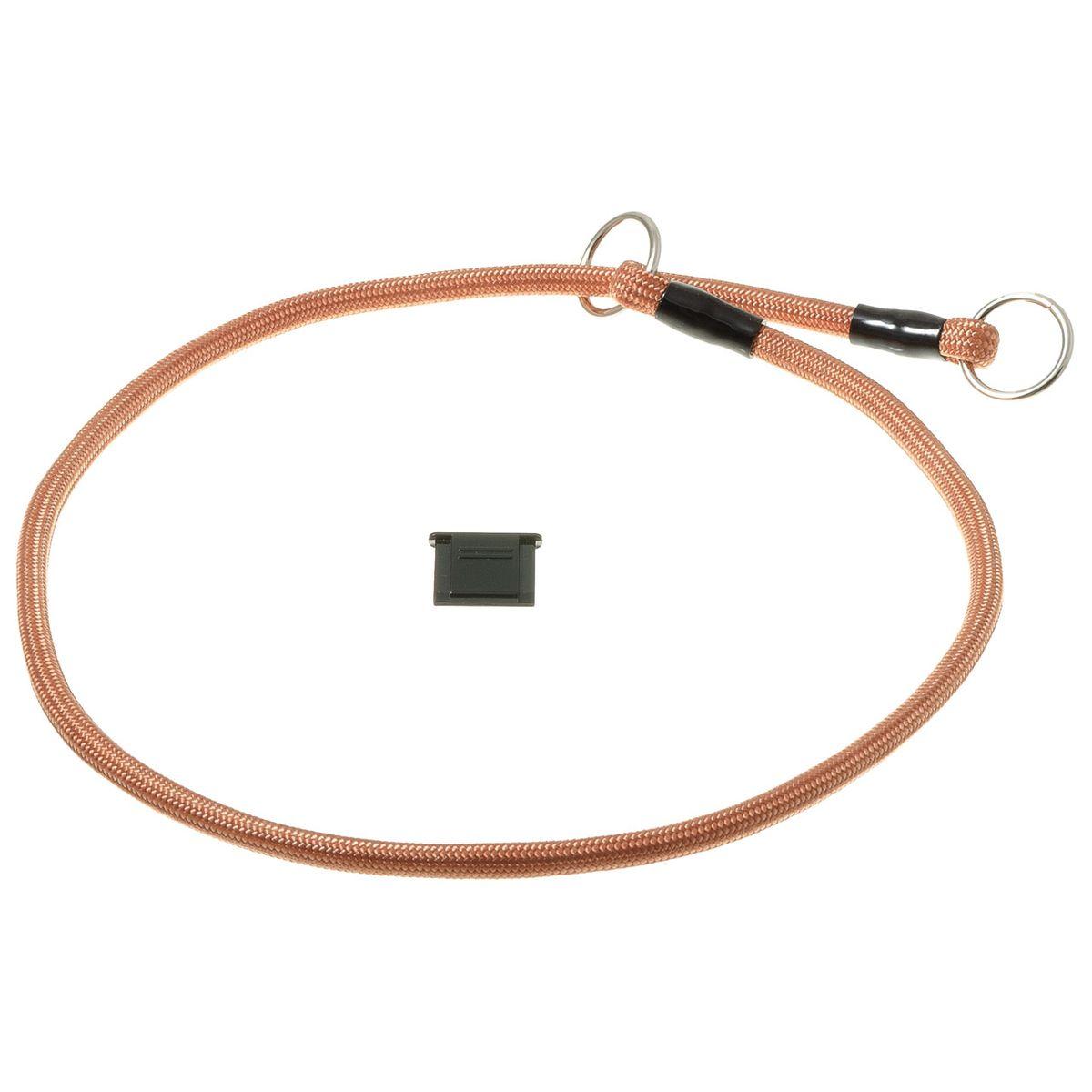 Ошейник-удавка с 2-я кольцами круглый 6мм*60см (медь)76-2240