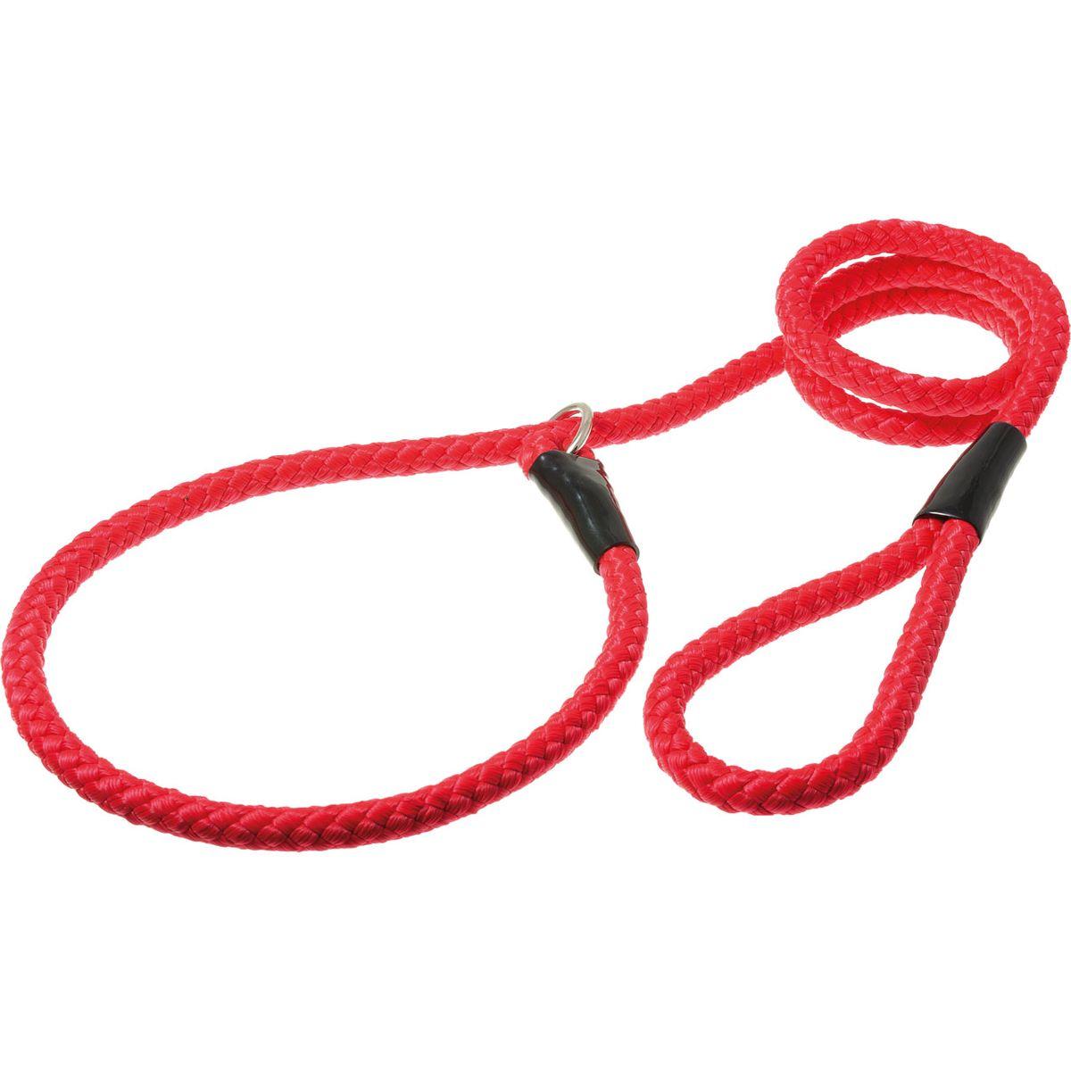 Поводок для собак V.I.Pet, цвет: красный, диаметр 12 мм, длина 1,7 мPDE1268RПоводок-удавка V.I.Pet состоит из петли с фиксатором и, собственно, поводка. Является самым распространенным видом выставочной амуниции. Подходит также для повседневного использования.