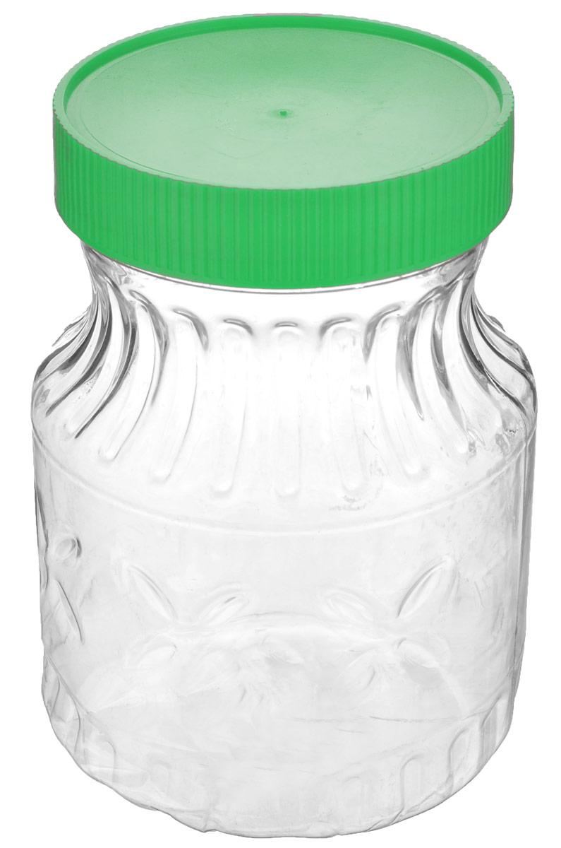 Банка Альтернатива Медовая, цвет: зеленый, прозрачный, 700 млM966Банка Альтернатива Медовая изготовлена из пластика. Изделие абсолютно безопасно для контакта с пищевыми продуктами. Банка закрывается крышкой, которая защищает содержимое от влаги и сохраняет продукты ароматными и свежими. В такой банке можно хранить мед, варенье, различные сыпучие продукты. Она практична и функциональна, пригодится в любом хозяйстве. Диаметр банки (по верхнему краю): 8 см. Высота банки (с учетом крышки): 14 см.Альтернатива Медовая изготовлена из материала ПЭТ (полиэтилентерефталат) и пластика. Изделие абсолютно безопасно для контакта с пищевыми продуктами. Внешние стенки украшены рельефом. Банка закрывается пластиковой крышкой, которая защищает содержимое от влаги и сохраняет продукты ароматными и свежими. В такой банке можно хранить мед, варенье, различные сыпучие продукты. Она практична и функциональна, пригодится в любом хозяйстве.