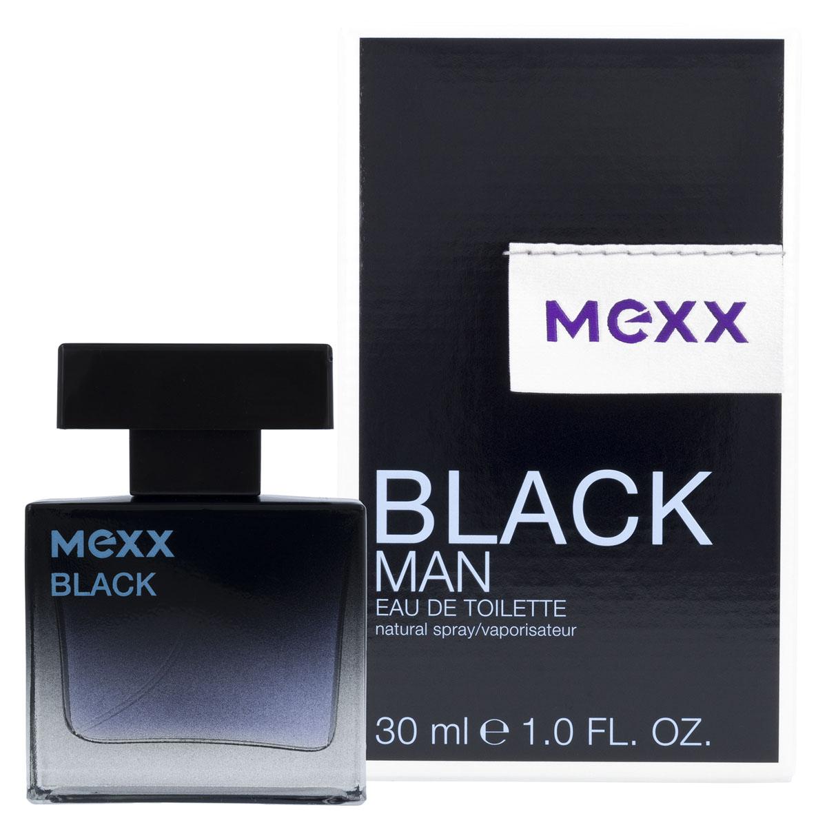 """Mexx Black Man Туалетная вода, 30 мл0737052681900Элегантный и стильный. Серьезный и сексуальный. Это черный. С черным цветом он чувствует, что готов к любым непредсказуемым событиям, которые могут с ним произойти… Его интеллект и жажда новых эмоций раскрывают характер современного мужчины. С """"Mexx Black"""" он чувствует энергию и уверенность в собственном успехе. Дизайн флакона строгий и лаконичный: прямоугольный блок из массивного стекла, плавный переход от таинственного черного к сдержанному голубому цвету подчеркивают престиж и современность аромата. Упаковка играет визуальными эффектами. Ключевые слова: Мужественный, элегантный, харизматичный, уверенный, благородный"""